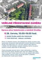 Představení záměru úpravy Sokolovské ulice a náměstí Družby