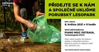 Pojďte s námi uklidit porubský lesopark