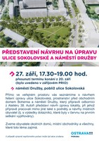 Představení návrhu na úpravu Sokolovské ulice a náměstí Družby