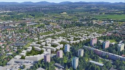 Budoucnost nezastavěné plochy podél ulic Polská a Mongolská spočívá v kvalitním bydlení