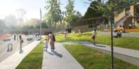 Komunitní centrum: bludiště, telefon z betonu i kuří most