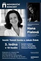 Na novoročním koncertu zazpívá Hana Fialová