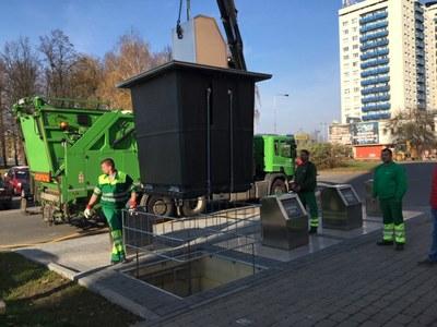 Poruba má další podzemní kontejnery
