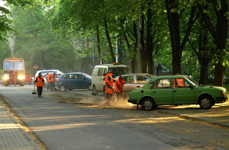 Rajonové čištění komunikací začne v polovině dubna