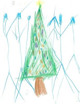 Soutěž pro nejmenší: Nakresli vánoční stromeček