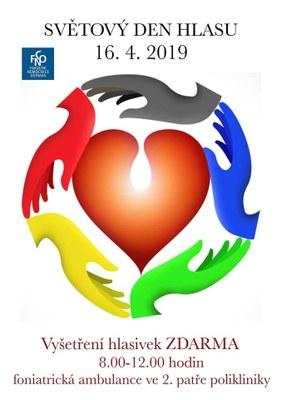 Ostravská fakultní nemocnice se připojí ke Světovému dni hlasu