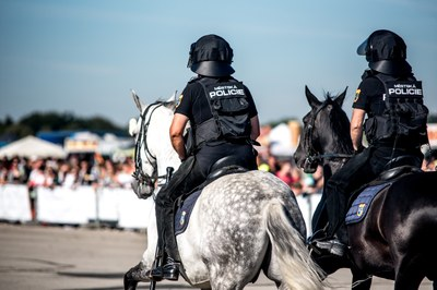 Strážníci přivezou na Porubský den bezpečí i koně a psy